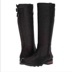 • Sorel • Emelie Tall Suede Black Winter Boots 7